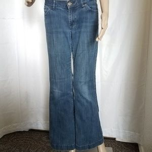 Express Eva first and flare jeans.